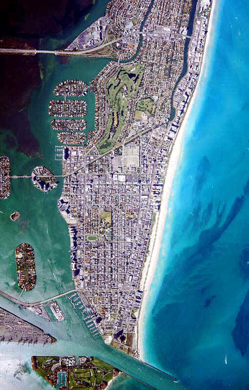 Miami Beach arial map
